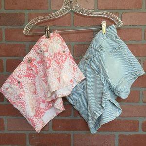 Lot of 2 Levi's Jeans shorty shorts size 7 (KK28)